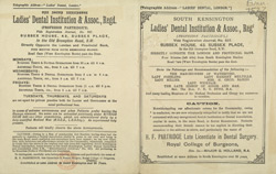 Advertisement for the South Kensington Ladies' Dental Institution 77527